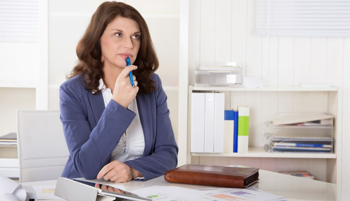 Woman Thinking About Franchising